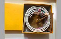 Mode Business Ceinture F Style Gürtel Design Herren Womens mit Goldschnalle Schwarz Riem als Geschenk 2S66D