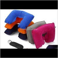 Shin Guard Wholesale Factory Price 3In1 Travel Office Set Inflatable U Shaped Neck Pillow Air Cushion Sleeping Eye Mask Eyeshade Earpl Cfy7D