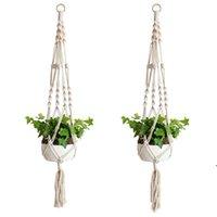 الشماعات مصنع مكرميه حبل الأواني حامل الحبال الجدار شنقا الغراس شماعات سلة النباتات حاملي داخلي سلال الزهور الرفع NHF6298