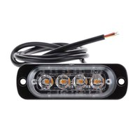2021 Kamyon 12 V 24 V 4 LED Strobe Uyarı Acil Işık Izgara Yanıp Sönen Lightbar Araba Beacon Lamba Kehribar Sarı Beyaz Trafik Işıkları