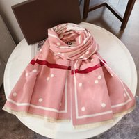 2021 바이 컬러 패션 디자이너 겨울 캐시미어 스카프 여성을위한 클래식 편지 스카프 고품질 긴 목도리 180 * 65cm