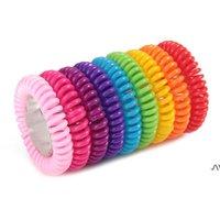 Bracelets anti-moustiques anti-moustiques antiparasitaire multicolores de bracelet Protection contre l'insecte Camping Extérieur Adultes Enfants Baby Pest Control DWD7629