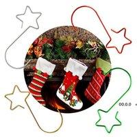 Metalowy hak na choinkę Kolorowe haczyki gwiazda kształt 4 kolory 20 sztuk dekoracji rrd10939