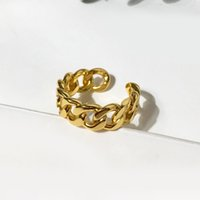Fashion Simple Designer Cuff Ring Woman Cross Love Eternal 18k Gold Plated Rings 2 Colors Golden Silver Promised Wedding Jewelry For Women WHOLESALE WITH BOX