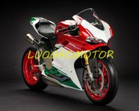 Injektion Motorcykel Full Tank Back Cover Fairings Kit Fairing Kits Ducati 959 1299 Bodywork 959s 1299s 2015-2016-2017-2018 Gratis anpassade gåvor Cowling White Green Red Red