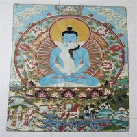 Xizang Buddha Thangka ricamo ricamo ricamo nepal appendere una foto felice Buddha felice re Kong Buddha