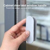 Handles & Pulls Multifunctional ABS Plastic Door Window Cabinet Drawer Tools Self Adhesive Auxiliary Home Improvement