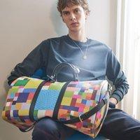 Наружные пакеты Duffle Bag Дизайнерские Уилковые сумки 50см TravelHigh Quality Кожа ламажа К четностью переносятся на багаж