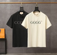 20ss 남성 T 셔츠 디자이너 3D 편지 인쇄 스타일리스트 캐주얼 여름 통기성 의류 남성 여성 최고 품질 의류 커플 티셔츠 도매