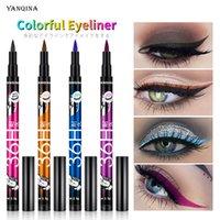 Yanqina 36h sıvı eyeliner su geçirmez göz kalemi kalem siyah kahverengi makyaj uzun ömürlü kozmetik güzellik şartları
