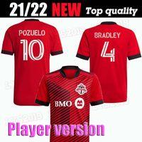Versión del jugador 2021 2022 MLS Toronto FC Soccer Jersey 21 22 Away Men # 17 Altidore # 10 Camisa de fútbol Pozuelo Toronto Morrow Bradley Fútbol Uniforme de fútbol Jersey