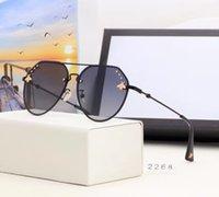 2021 Yaz Bayanlar Lüks Tasarımcı Güneş Gözlüğü Bayan Boy Degrade Güneş Gözlükleri Polarize Çerçeveleri Tutum Durumda Vintage Kutusu