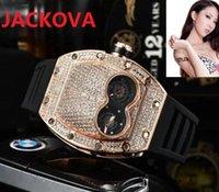High quality fashion mens womens watch Diamonds bezel Sapphire Ladies dress watches rubber silicone bracelet waterproof Wristwatch