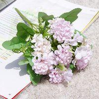Ortanca Yapay Çiçekler 9 Kafa Topu Demet İpek Sahte Çiçek Yenileme Için Ev Dekorasyon Masa Ortanca Küçük Buket 1413 V2