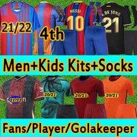 FC Barcelona maglia da calcio Abito per adulti e per bambini con calzini 20 21 Ventilatori+Versione giocatore Magliette da calcio 2020 2021 Messi Griezmann Training Tankeeper