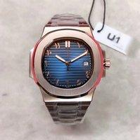 Classic U1 Men hacen relojes de oro rosa llenos de 18 k pulsera en blanco y negro 324 Trainspotter 40 mm Mecánico automático Reloj Mecánico Azul Gemas Azul Impermeable Cierre plegable