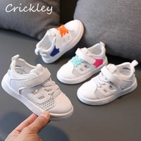 Summer Kid Sneakers Hollow Out Mesh White Casual Shoes For Baby Boys Girls Sports Shoes Breathable Anti Slip Toddler Sneakers H0917