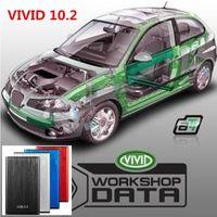 2021 Venda quente Auto Motivo Repair Soft-Ware Vivid Workshop 10.2 Data Car Auto Reparação Auto-Ware até 2010, Workshop Vivid 10.2 Transporte rápido