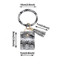 PU Card Bag VT1544 Bracelet Accessory Pendant Keyring Tassel Bangle Pendant Holder Bracelet Leather Credit Wristlet Card Keychain Walle Ioel