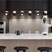 Kolye Lambaları Nordic Ins Postmodern Minimalist Uzun Şerit Işık Lüks Modern Restoran Ev Bar Masa Yemek Odası Asılı Lamba