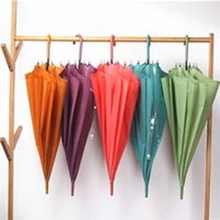 Makaron 색상 투명 우산 슈퍼 대형 스트레이트 긴 손잡이 자동 우산 방풍 남성 레인 블랙 우아한 비즈니스 우산 G4WL9G1