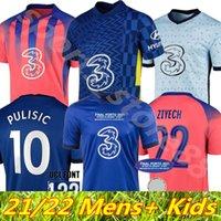 남성 키트 키트 2021 CFC Werner Pulisic 축구 유니폼 아브라함 Chilwell Mount Jorginho 20 21 Giroud 축구 셔츠 Ziyech Havertz Kante Che Uniform