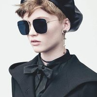 Venta caliente 2019 nuevo verano stellaire gafas de sol mujeres diseñador de la marca steampunk ornamental moda hombres gafas de sol envolver piloto cuadrado gafas de sol