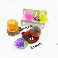 4.5cm Colorful fruit Mesh Squishy Anti Stress Balls Squeeze Toys Decompression Anxiety Venting gift for kids DHA5635