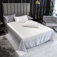 Sheets & Sets 1 Pc Flat Sheet PLA Cool Fiber Bed White Color Smooth Single Queen King Size Bedsheets Double (no Case)
