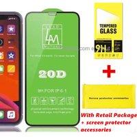 LM 20D 전체 화면 보호기 iPhone 12 11 Pro Max XS XR 6 7 8 Plus Samsung A30 A10 A71 Note 9 소매 패키지 설치 액세서리 키트 MQ200