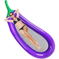 Inflatable Floats & Tubes Beach Thickening Big Swimming Mattress Eggplant Pool Protection Water Raft Hammock Bed Sea