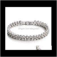 Bracelets Drop Delivery 2021 Shining Crystal Braceletszircon Diamond Roman Tennis Link Bracelet Jewelry Ps1436 Vsg8J