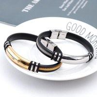 Mode Kreative Männer Armreif Handgelenk Band Schmuck Gerechte Ruder Silikon Edelstahl Armband Charme Armbänder
