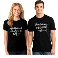 Girlfriend Wife And Boyfriend Fiance Husband Couples T shirt Funny Women Just Married Casual Honeymoon Tees Tops