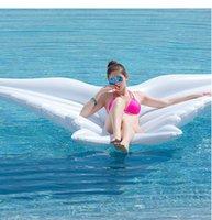 Em estoque 180 cm piscina inflável borboleta asas flutuadores ilha flutuante água colchão de ar jangada pvc cama piscinas praia brinquedo gigante