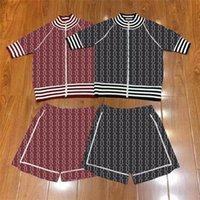 Personalidad de verano Charm Mujeres Tanques Vestidos 2 Colores Sencillo Stripe Lady Dos Piezas Traje Regalo de Cumpleaños Para Abrigo de Esposa