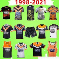Retro 1998 2020 2021 West Tiger Rugby League Jersey Nine System Home Away White Shorts Hero Vintage Souvenir Edition Chaleco Tshirt Uniforme