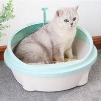 Andere Katze liefert Müllkasten mit TRAY MAT Kunststoff Pet Pee-Toilette für Katzen-Sitter-Pad-Tablett-Trainer-Reinigung
