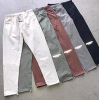 Miedo a Dios Essentials Pasajes Pantalones Niebla Logotipo reflectante Casual Pestañas Ligeras Menores Hombres Mujeres Hip Hop Streetwear