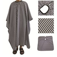 Black White Stripes Hairdresser Apron Haircut Cape Party Supplies Polyester Pongee Hair Salon Shop Barber Capes Aprons Hairdressers Gown JY0581
