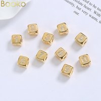 Pendant Necklaces BOAKO Design DIY Number Cube Necklace Long Chain Gold Letter For Women Men Initial Family Name Jewelry Gift