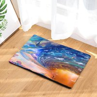 Carpets Ink Wash Painting Colorful Sky Pattern Floor Mats Fashion Kitchen Outdoor Rugs, Front Door Mat For Bedroom Bathroom