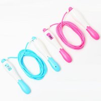 Jump Ropes Adjustable With Counter Sports Fitness Slim Speed Counting Skip Rope Sponge Handle Skipping Wire Fitnesss Equipment