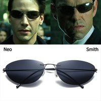 Die Matrix Coole Neo Smith-Stil Polarisierte Sonnenbrille Männer Titan-Legierung, die Marke Design Sonnenbrille Oculos de Sol