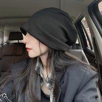 Kızarmış Sokak Düz Şapka çocuk Sonbahar Ve Kış Çok Yönlü Headdress Kore Moda Sıcak Kafa Örme Kazık Yün Dux4729