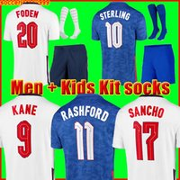 camisa de futebol 2020 2022 KANE STERLING RASHFORD SANCHO GREALISH MOUNT FODEN HENDERSON MAGUIRE 20 22 camisa nacional de futebol masculino + infantil conjuntos de meias uniformes