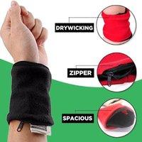 Wallets Portable Sport Armband Run Bag Wristband Badminton Tennis Sweatband Wrist Support Pocket Wallet Pouch