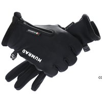 Men Winter Riding Gloves Plus Velvet Thicked Warm Touch Screen Gloves Outdoor Ski Motorcycle Waterproof Non-slip Unisex Gloves DHD10532