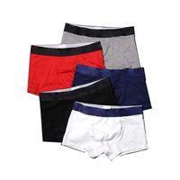 Baumwolle Männer Boxer Unterwäsche Beiläufige Unterhosen Designer Mens Shorts Buchstaben Drucken Männliche Boxer 5 Farben