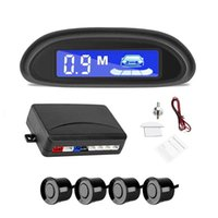 Car Rear View Cameras& Parking Sensors Auto Parktronic LED Radar With 4 Backup Monitor Detector System